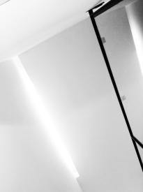 Fosos de luz en escalera