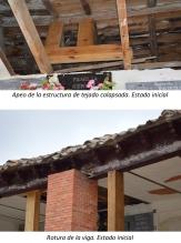 Estado inicial estructura de madera