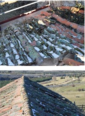 Estado inicial del tejado