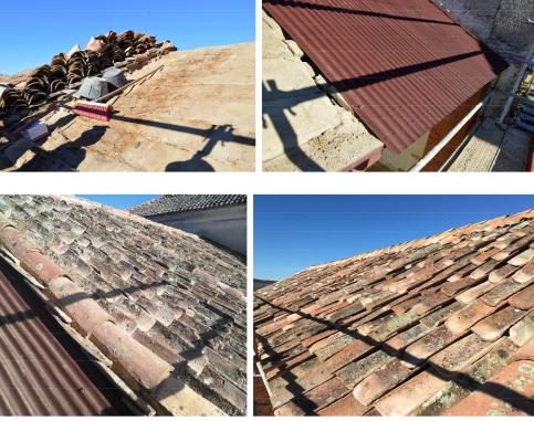 Intervención en el tejado