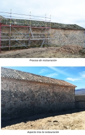 Restauración de tapia trasera