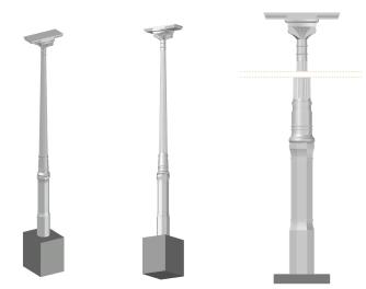 Estudio tridimensional de columnas existentes