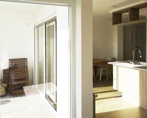 Salón.terraza-cocina, espacio abierto
